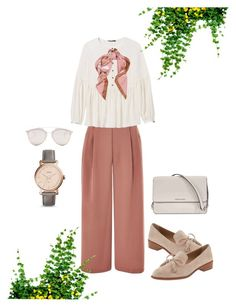 """""""wears#4"""" by yndyand on Polyvore featuring Topshop, Banana Republic, Michael Kors, Moschino, FOSSIL and Christian Dior"""