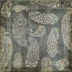 Antique Grungy Vintage Paisley Indian Background Stock Photography - Image: 23162852