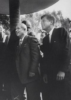 Soviet Dictator Nikita Khrushchev & POTUS John F. Kennedy c.1961