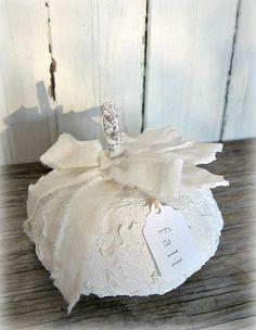 ~ Plaster of Paris Pumpkin ~ Dollar Store find with plaster....
