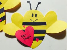 Just made these for my little sisters! DIY VALENTINES DAY:) #bemine Valentine's Day Diy, Valentines Diy, Little Sisters, Bee, Christmas Ornaments, Holiday Decor, Disney, Christmas Jewelry, Christmas Decorations