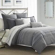 Found it at AllModern - Bluffton Cotton Reversible Duvet Cover Set