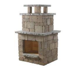 Necessories Santa Fe Compact Fireplace-4200040 at The Home Depot