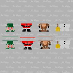 Elf Santa Snowman Reindeer feet SVG DXF EPS, elf legs svg, christmas svg, christmas files, svg for cricut, silhouette file, cutting files by JenDzines on Etsy