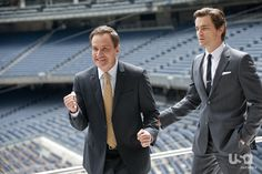 """White Collar:  s3's """"Stealing Home""""--Peter is really excited about being at Yankee Stadium :)"""