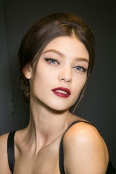 (makeup) Runway make-up backstage at Dolce & Gabbana Fall/Winter 2013 RTW at Milan Fashion Week.