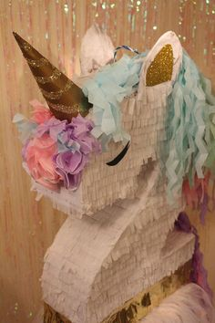 This Unicorn Pinata is so Beautiful !!! You will love its hair and Style It is really different from all the pinatas youll see around! Our best deal is our PINATA BUNDLE : PINATA + PINATA STICK for just $64.99 -We offer this UNICORN PINATA in every number 1-9. Choose your