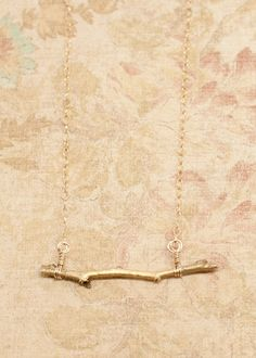 One of my personal favorites. This Gold Tiny Twig Necklace is perfect for any outfit, winter or summer!