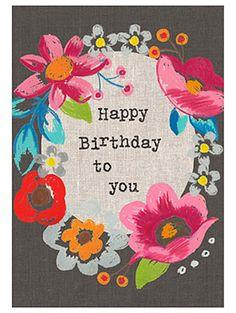 print & pattern: CARDS - sarah kelleher Happy Birthday Art, Happy Birthday Wishes Cards, Happy Birthday Wallpaper, Happy Birthday Celebration, Birthday Cheers, Happy Birthday Friend, Birthday Blessings, Birthday Wishes Quotes, Happy Birthday Images