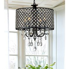 Round 4-light Antique Bronze Crystal Chandelier Pendant Lightupmyhome http://www.amazon.com/dp/B00B7858OM/ref=cm_sw_r_pi_dp_oiK2ub018MXWM