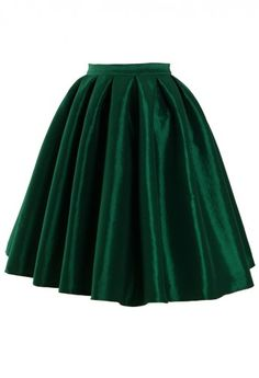 Green A-line Midi Skirt  @Lynda Burch , can you help me make one of these?