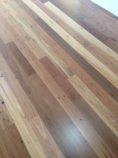 Recycled hardwood floor. Bona HD Matt finish. Turned out better than anticipated! So much character!