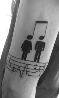 With creativity at its best, this music note tattoo design is perfect for displaying you and your partner's love for music.