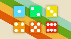 """Diecons — Adam Dachis. Taking inspiration from traditional numeric dice, these minimalist icons give you six priority folders.  One is the lowest, six is the highest.  You can see this visually through their colored """"heat"""" rating."""