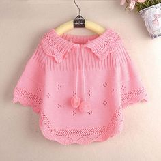 Girls Poncho weater girls wool vest shawl cape cloak solid models of child princess ball cardigan 2014 new baby clothing-in Sweaters from Apparel & Accessories on Aliexpress.com