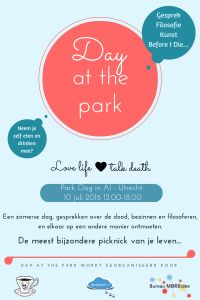 Flyer Day at the park 10 juli 2016