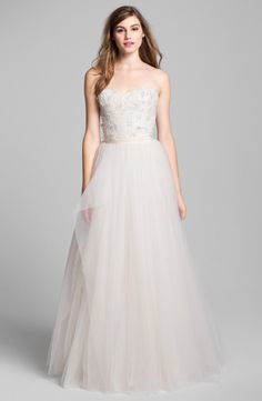 Exclusive to Nordstrom, Roses by Reem Acra 'Coral Bells' gown