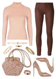 """""""CHIC HAPPENS"""" by diewertje-derks ❤ liked on Polyvore featuring Topshop, Judith Leiber, Allurez, Koral, Nina Ricci, Christian Louboutin, Cartier, outfit and Chichappens"""