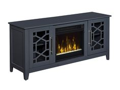Jasmine Electric Fireplace Media Console in Cool Gray - 18MM8951-F965S