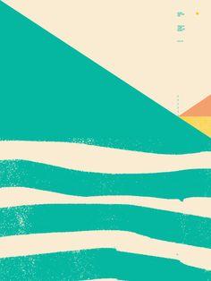 Secret Surf Map 002 Art Print