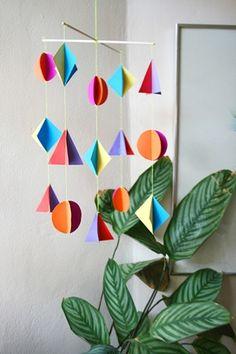 Colorful Geometric Paper Mobile