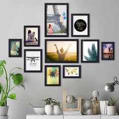 Frame Wall Collage, Gallery Wall Frames, Frame Wall Decor, Photo Wall Collage, Frames On Wall, Photo Wall Decor, Picture Frame Decor, Picture Wall, Family Room Walls