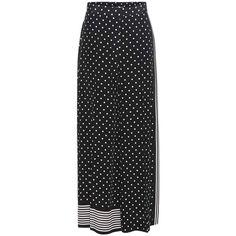 Stella McCartney Printed Silk Wide-Leg Trousers (15 945 UAH) via Polyvore featuring pants, black, trousers, wide-leg, silk wide leg trousers, silk pants, stella mccartney, stella mccartney pants и silk wide leg pants