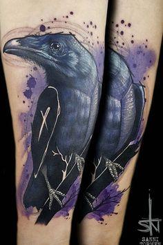 Sanni Tormen Raven tattoo