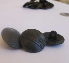 Antiqued Copper Metal Shank Buttons  #beading, #beads, #supplies