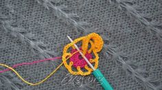 Insert hook in dc of previous round (as at the photo). Yarn over, and pull through all loops on the hook.