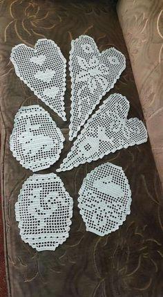Crochet Books, Thread Crochet, Easy Crochet, Fillet Crochet, Crochet Home Decor, Decor Crafts, Crochet Projects, Crochet Patterns, Easter