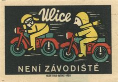 czechoslovakian matchbox label / Jane McDevitt