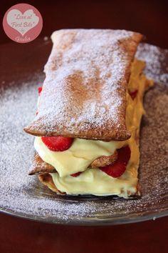 Millefoglie con crema al mascarpone e fragole! #ricetta #cucina #ricette