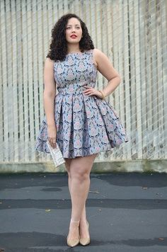I usually wouldn't rock it this short, but there's something about this design...  Cute plus size dress fashion