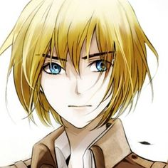 Armin Arlert pfft almost sounds like armed and alert! hahah