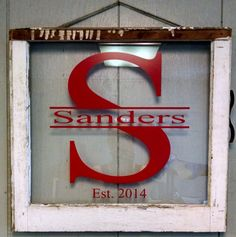 A wonderful way to celebrate your beloved family and relationship is to display it for all to see. With this personalized window you can do Vintage Windows, Old Windows, Windows Decor, Old Window Projects, Window Ideas, Door Ideas, Fall Wedding, Wedding Gifts, Wedding Ideas