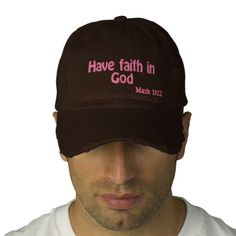 Have faith in God Agrainofmustardseed.com Religious Quotes Embroidered Baseball Caps