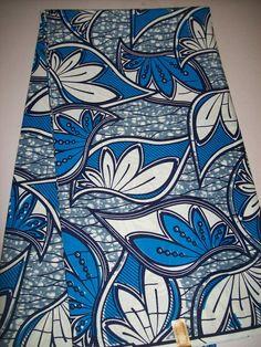 Photographie Nouvelle Hollande de Julius bleu et blanc africain tissu par yard / African turbans vêtements / africaines / African supplies / cire Holland imprime