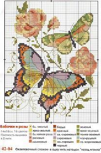 cross-stitch butterflies