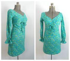 Vintage 1960s Paisley Dress MOD Mini Empire Waist by rileybella123, $84.00