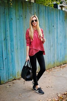 #activewear #red #streetstyle