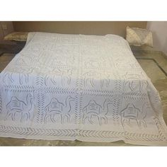 Indian Home Furnishing Hand Made Cutwork Applique Bed Sheets