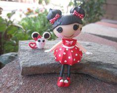 CUSTOM Mini Lalaloopsy *MINNIE FUNPARKS* Doll w/ Mouse pet! (dollop) lot# c2 #Dolls
