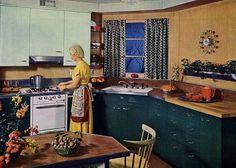 https://flic.kr/p/4mtTV1 | Custom - Kitchen Design | 1950's Kitchen. Love that…