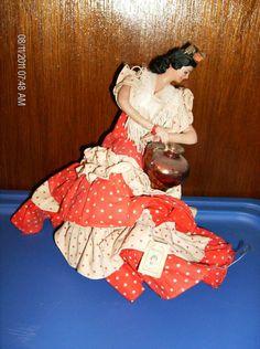 Spanish Lady Flamenco Dancer Doll by VINTAGEKARLACREATES on Etsy, $40.00