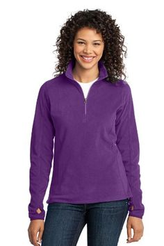 Port Authority Womens Microfleece 12 Zip Pullover XL Amethyst Purple >>> Check this awesome product by going to the link at the image. (This is an affiliate link) #LadiesActivewear