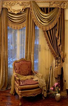 Traditional Curtains And Valances Curtains Without Valance, Drapes Curtains, Valances, Victorian Curtains, Vintage Curtains, Curtain Styles, Curtain Designs, Traditional Curtains, Classic Curtains