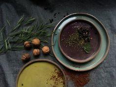 Premium Anthracite Clay Dinnerware Set of 3 by SonikiCeramics