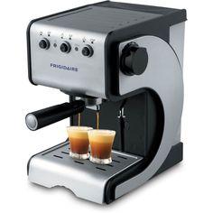Frigidaire FD7189 Espresso Coffee Maker (Gray & Black, ...
