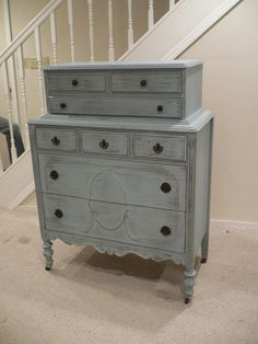 LOVE this piece!!    Chic and Shabby Cottage Blue Tall Dresser